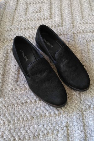 Manguun Slippers black leather