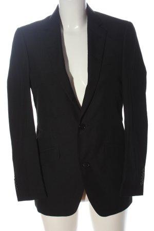 Manguun Lange blazer zwart zakelijke stijl