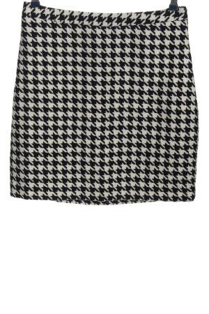 Manguun Minikleid schwarz-weiß Allover-Druck Casual-Look