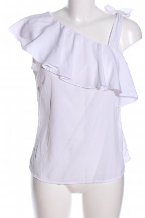 Manguun Camicia monospalla bianco stile casual