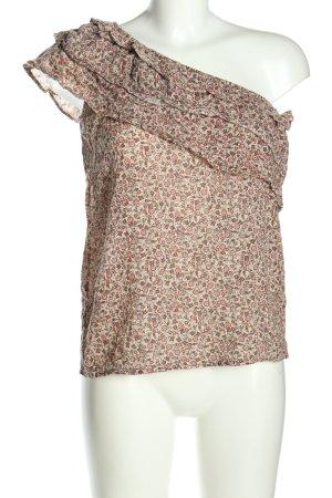 Manguun Haut avec une épaule dénudée imprimé allover style décontracté