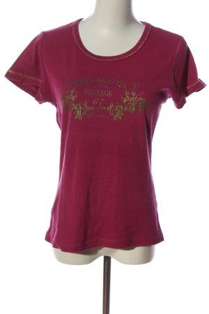 Manguun T-shirt imprimé rouge imprimé avec thème style décontracté