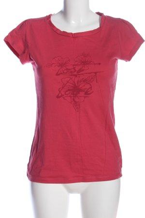 Manguun T-shirt imprimé rose imprimé avec thème style décontracté
