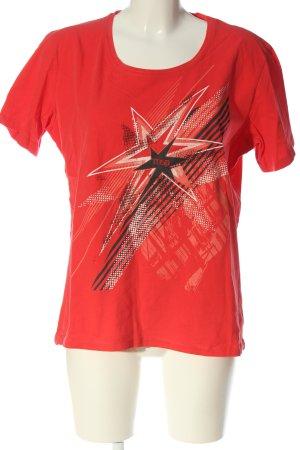 Manguun Print-Shirt Motivdruck Casual-Look