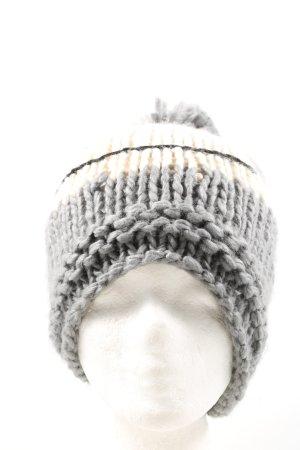 Manguun Cappello con pon pon punto treccia stile casual