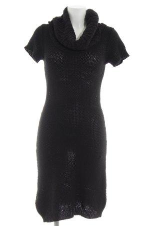 Manguun Pulloverkleid schwarz Zopfmuster Casual-Look