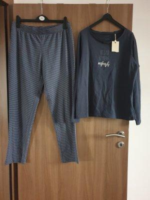 Manguun Pijama azul oscuro