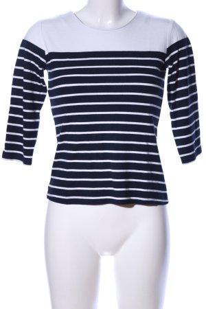 Manguun Stripe Shirt blue-white striped pattern casual look