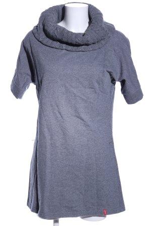 Manguun Turtleneck Shirt light grey flecked casual look