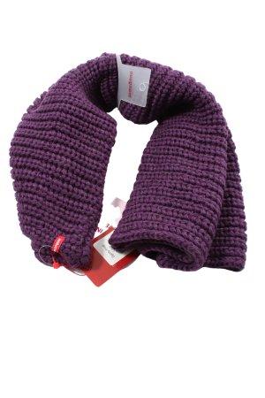Manguun Bufanda tubo lila punto trenzado look casual