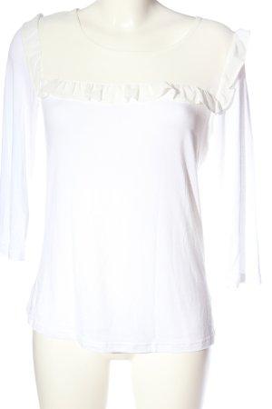 Manguun Schlupf-Bluse weiß Casual-Look