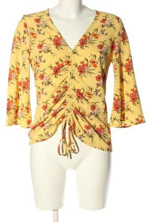 Manguun Schlupf-Bluse Blumenmuster Casual-Look