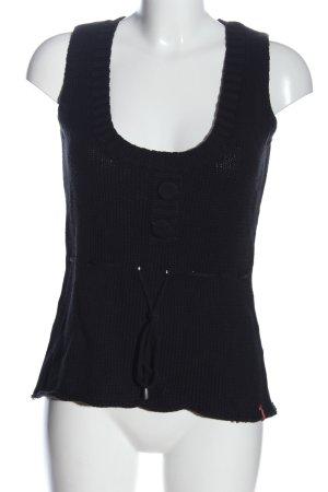 Manguun Schlupf-Bluse schwarz Casual-Look