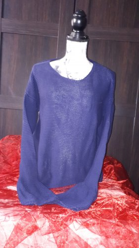 Manguun Coarse Knitted Sweater blue