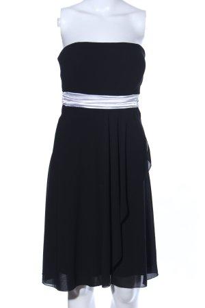 Manguun schulterfreies Kleid schwarz-weiß Elegant