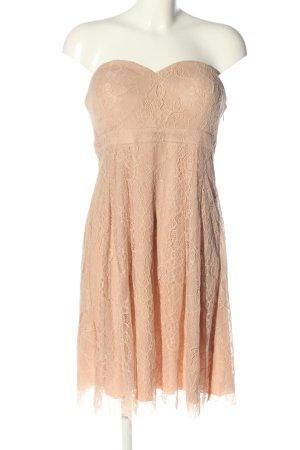 Manguun schulterfreies Kleid nude Webmuster Casual-Look