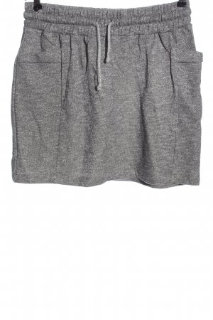 Manguun Knitted Skirt light grey flecked casual look