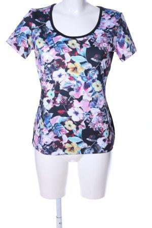 Manguun T-Shirt Blumenmuster Casual-Look
