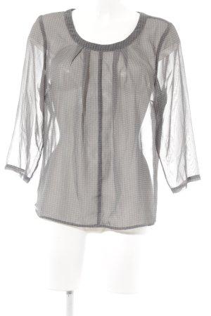 Manguun Transparenz-Bluse grau-hellgrau Allover-Druck Casual-Look