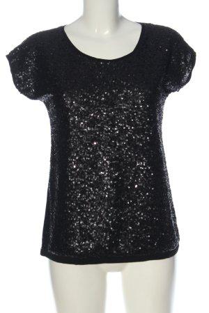 Manguun Boatneck Shirt black glittery