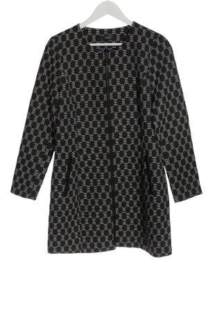 Manguun Between-Seasons Jacket black-white allover print casual look