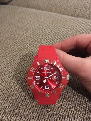 Manguun Analoog horloge rood
