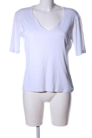 Manguun V-Ausschnitt-Shirt weiß Casual-Look