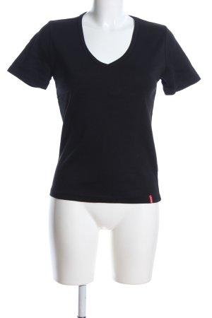 Manguun V-Ausschnitt-Shirt blau Casual-Look