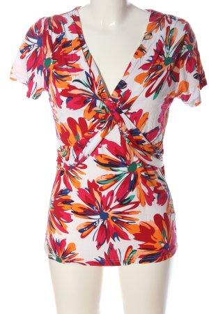 Manguun Camisa con cuello V estampado floral look casual