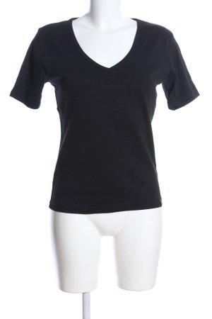 Manguun V-Ausschnitt-Shirt schwarz Casual-Look