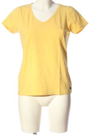 Manguun Camisa con cuello V amarillo pálido look casual