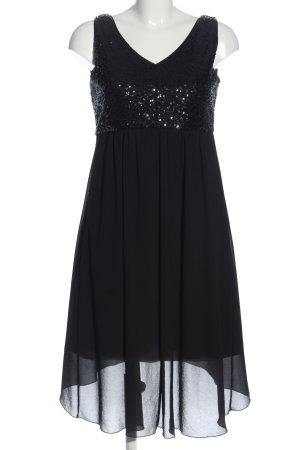 Manguun Vokuhila-Kleid schwarz Elegant