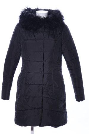 Manguun Winterjacke schwarz Steppmuster Casual-Look