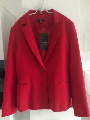 Manguun Klassischer Blazer red polyester