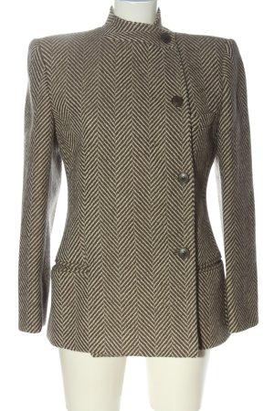 Mani Cappotto corto marrone-bianco sporco motivo a righe stile professionale