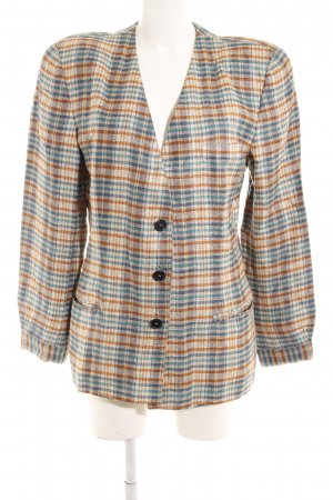 Mani Long-Blazer Karomuster Casual-Look