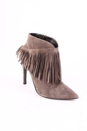 Mani Reißverschluss-Stiefeletten graubraun Street-Fashion-Look