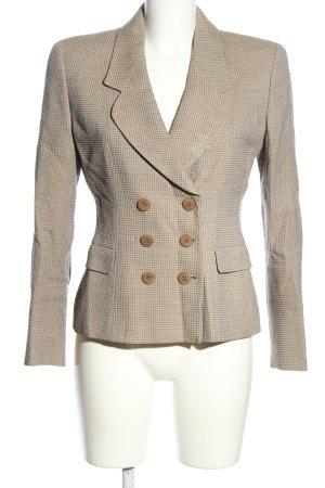 Mani Tweed Blazer cream-light grey weave pattern business style