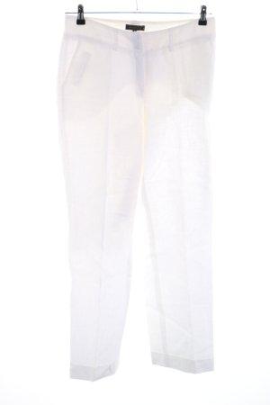 Manigance Pantalón de lino blanco estilo «business»