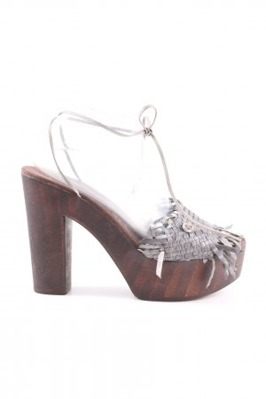 Manila Grace Clog Sandals light grey extravagant style