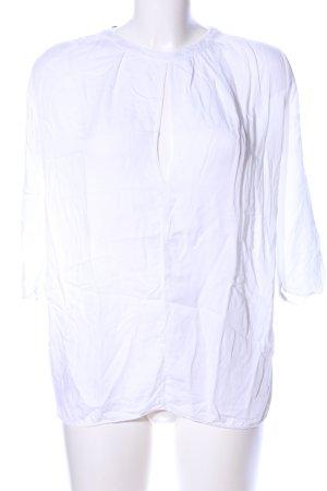 Manila Grace Langarm-Bluse weiß Casual-Look