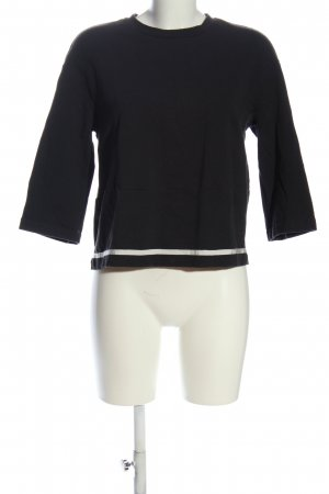 Manila Grace Schlupf-Bluse schwarz Casual-Look
