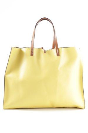Manila Grace Shopper blassgelb Casual-Look