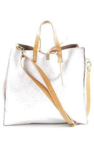 Manila Grace Shopper silberfarben extravaganter Stil