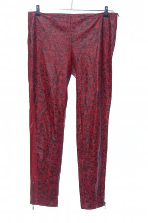 Manila Grace Stretchhose rot abstraktes Muster Casual-Look