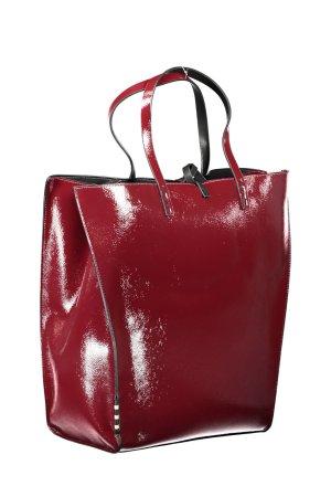 Manila Grace Bolso tipo cesta rojo oscuro