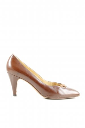Mannori High Heels braun Business-Look