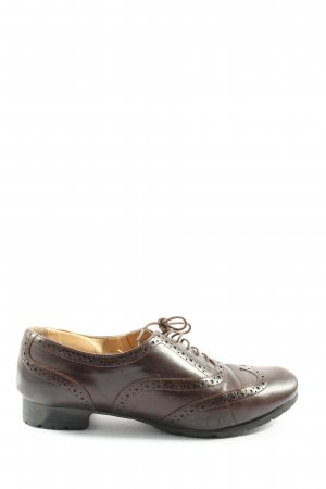 Mannori Oxfords brown business style
