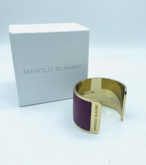 Manolo Blahnik Ajorca color oro-burdeos