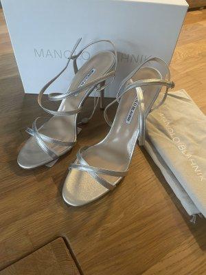 Manolo Blahnik - Bayan Sanderlette Silber Gr. 40